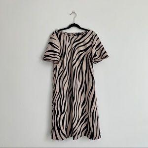 Zebra Print Short Sleeve Dress